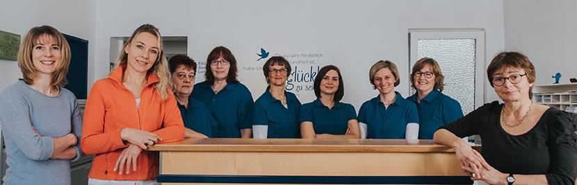 Hausarztpraxis. Das Team.